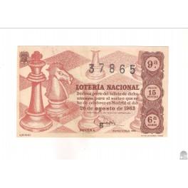DÉCIMO DE 1963. SORTEO 24