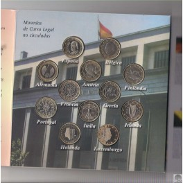 12 MONEDAS DE 1 EURO DE 2002