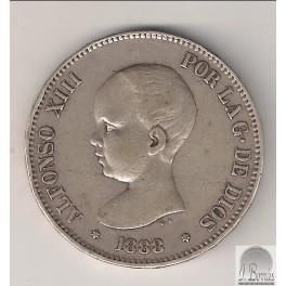 5 PESETAS DE 1888 *18-88. MSM