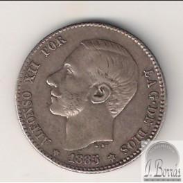 PESETA DE 1885 *-85