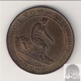 5 CÉNTIMOS DE 1870