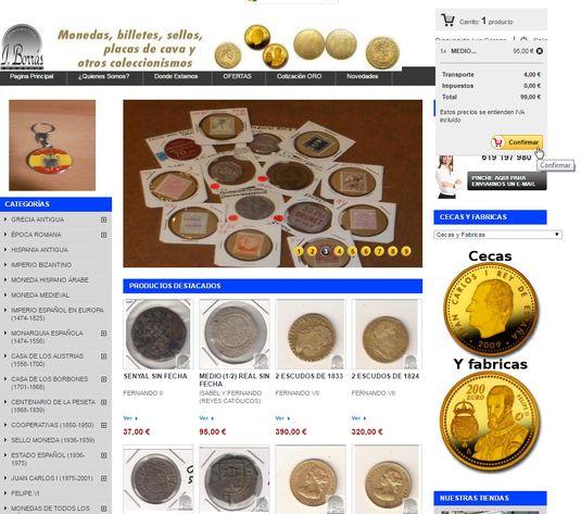 pago en numismática borras